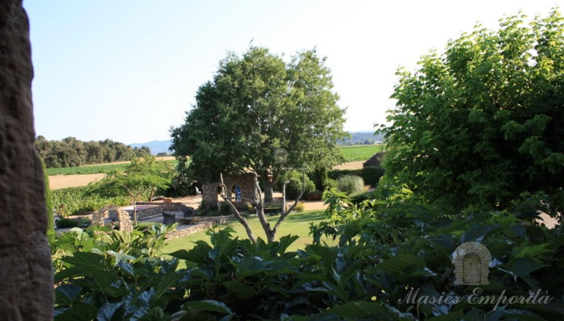 Vista desde la suite principal del jardín
