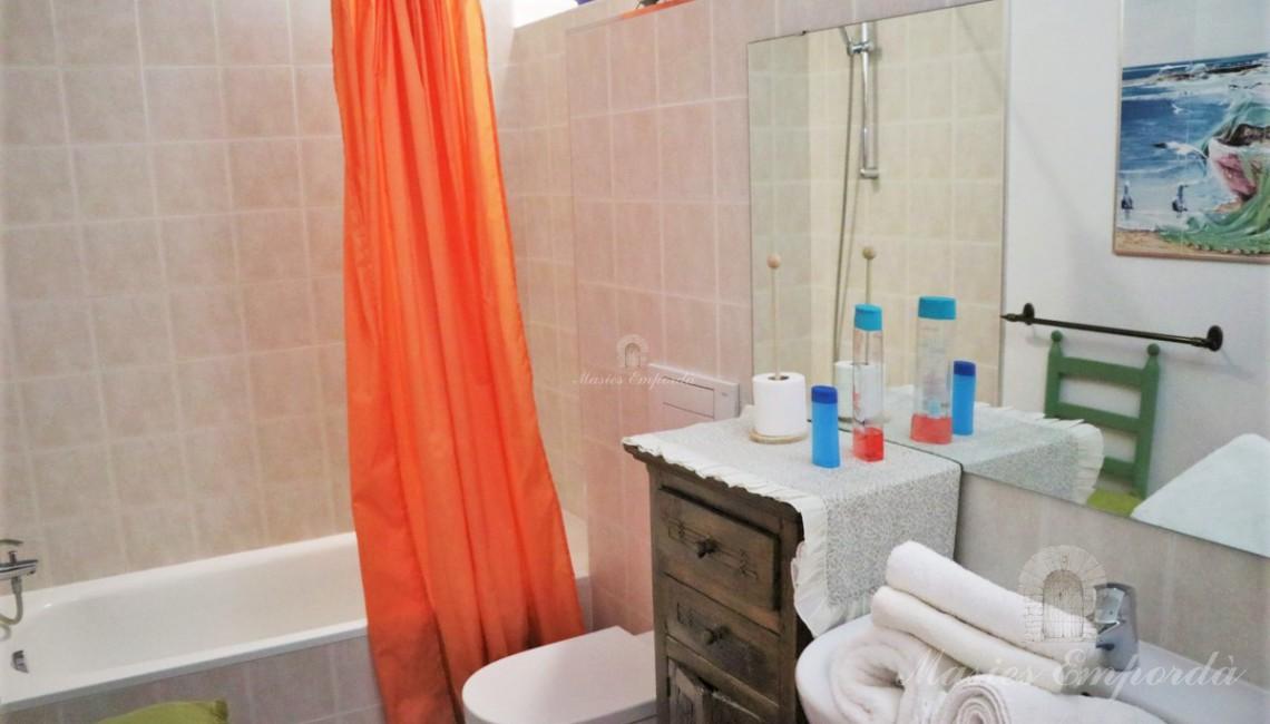 Uno de los baños de las habitaciones