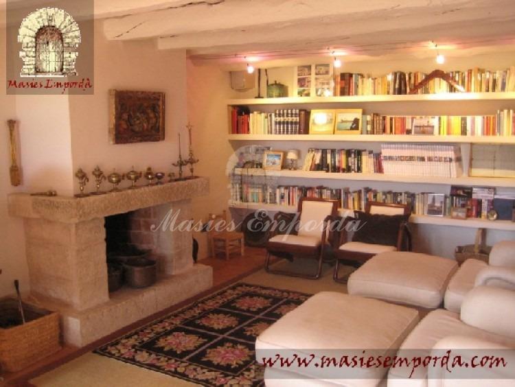 Salón de estar de la casa con chimenea