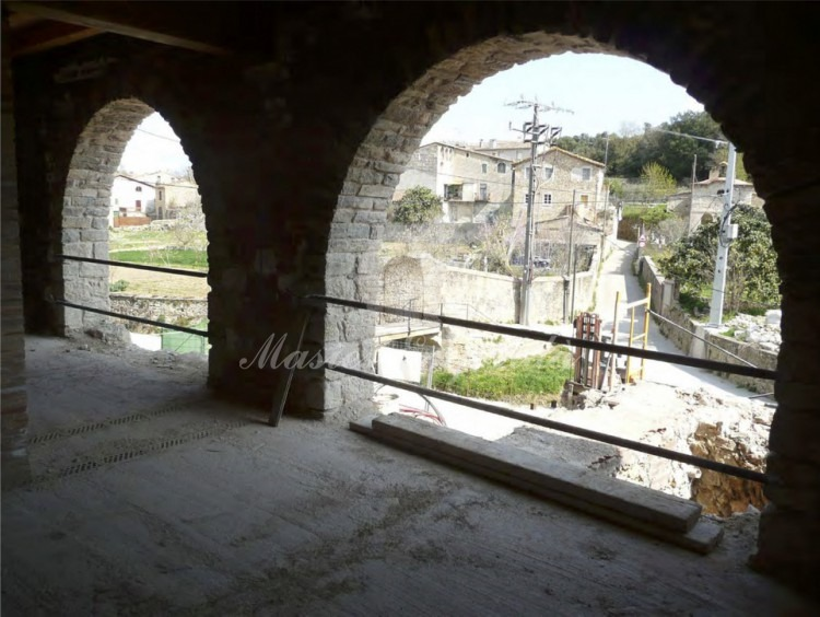 Vista de los arcos primera planta