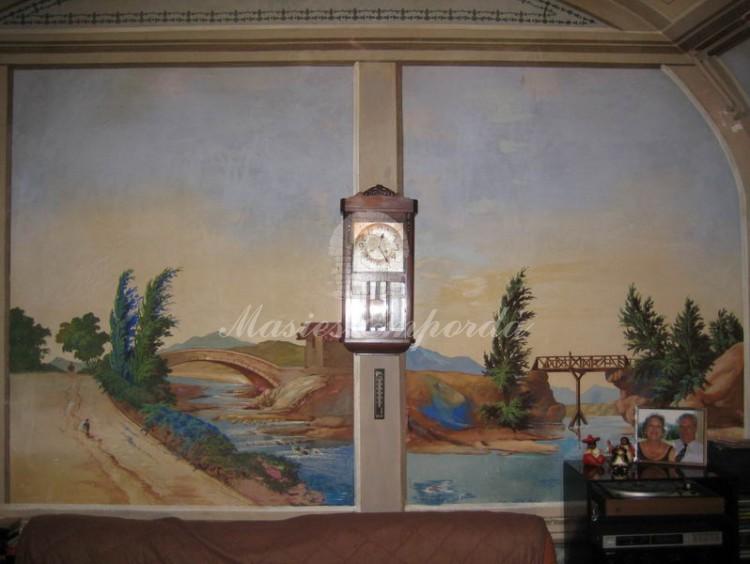 Detalles de los frescos de las paredes de los salones