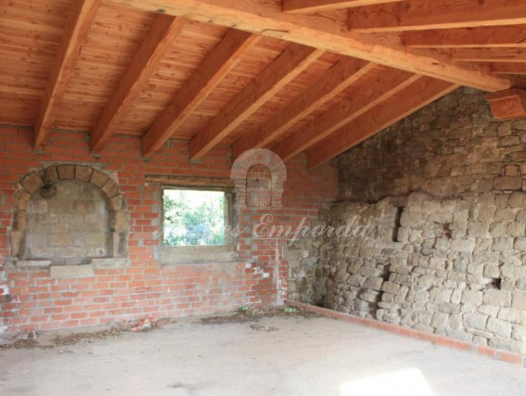 Detalle de la cubierta de madera